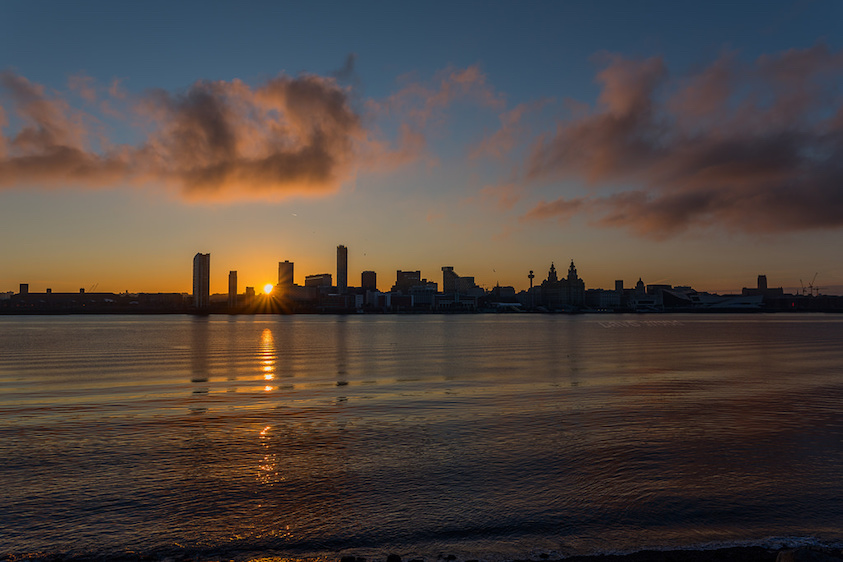 Liverpool across the Mersey